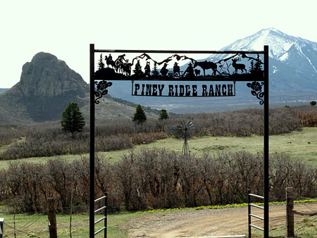 Piney Ridge Ranch Entrance